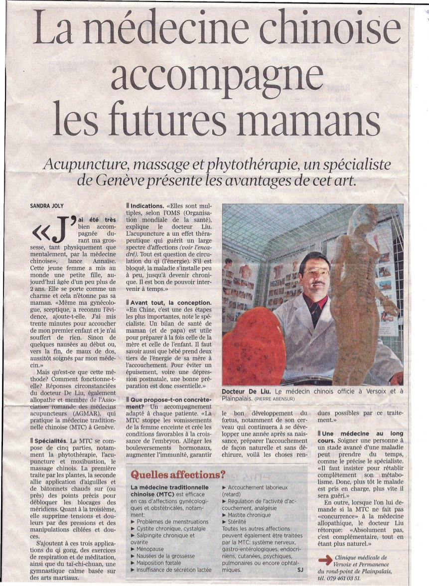 article de presse sur le Doctor Liu